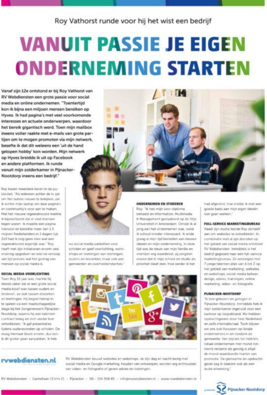 artikel over RV Webdiensten in Pijnacker-Nootdorp